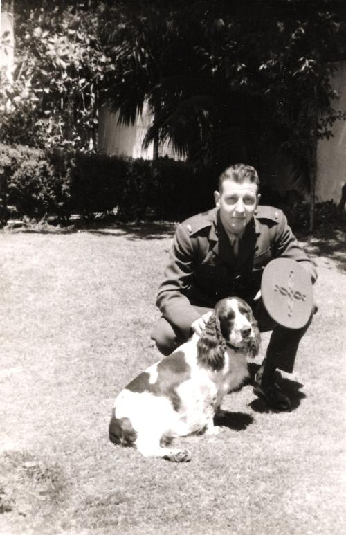 Lieutenant Mitlehner in 1944, before going overseas. Photograph courtesy of Kami Beck.