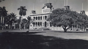 The Iolani Palace, residence of Hawaiian royalty, in Honolulu.