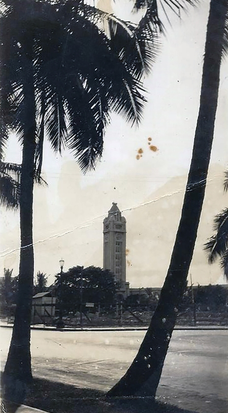 The Aloha Tower, a famous Honolulu landmark.