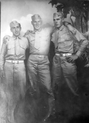 Dom, Raymond Butler, and Tim Hartigan, 1944.