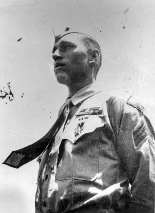 Sergeant Harlan Jeffery, Tutalo's squad leader, receives the Silver Star for Iwo Jima.