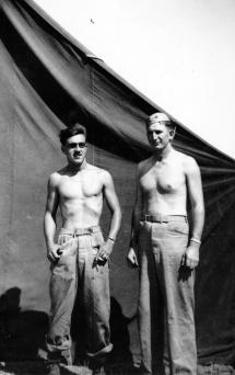 """""""Blacky & Deets – a swabby corpsman attached to D Co. to take care of us. A first aid man."""" Pharmacist's Mate Virgil Deets was killed on Iwo Jima."""