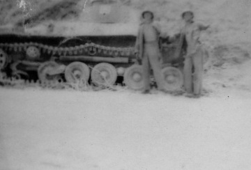 1/24 fought off an attack by several light tanks on D+3. These Marines may be posing with one of those adversaries.