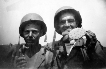 "Cacti were a perpetual irritation on maneuvers, and many a Marine ran afoul of the sharp spines. Pope and John ""Blackie"" Poggioli address the situation with good humor."