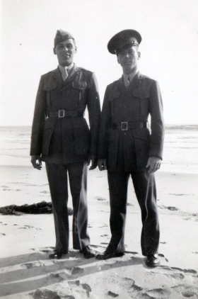 There was the occasional reprieve, when a Marine could put on his dress uniform and escape on liberty. Mike Nobile and John Pope went to the seaside.