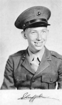 "Formal portraits taken in May, 1943. This is Jim ""Shuffler"" Pritchett of Forsyth, Georgia."