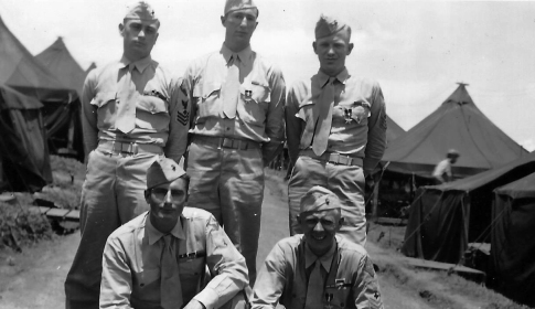 Many of 1/24's corpsmen were decorated for valor after Iwo Jima. Walter Dodd, Robert Haynes, Robert Ervin, Curly Klauss, and Carl Zaar were awarded the Bronze Star. For Dodd and Klauss, it was the second such honor.