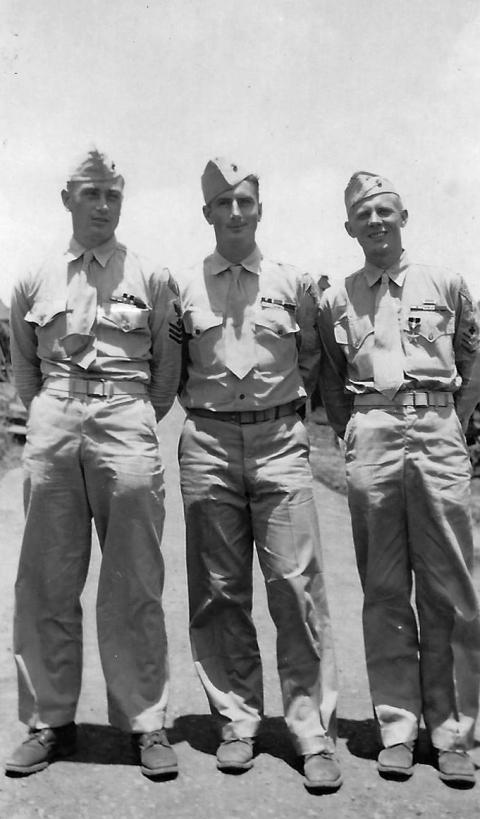 Veteran corpsmen Dodd, Klauss, and Zaar.