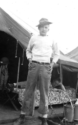 "Horace ""Al"" Allen, a Charlie Company flamethrower operator, at Camp Maui."