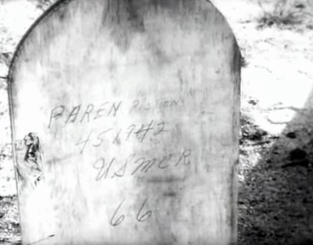 The resting place of PFC Giustino Parente, B/1/24. Still from USMC combat camera footage.