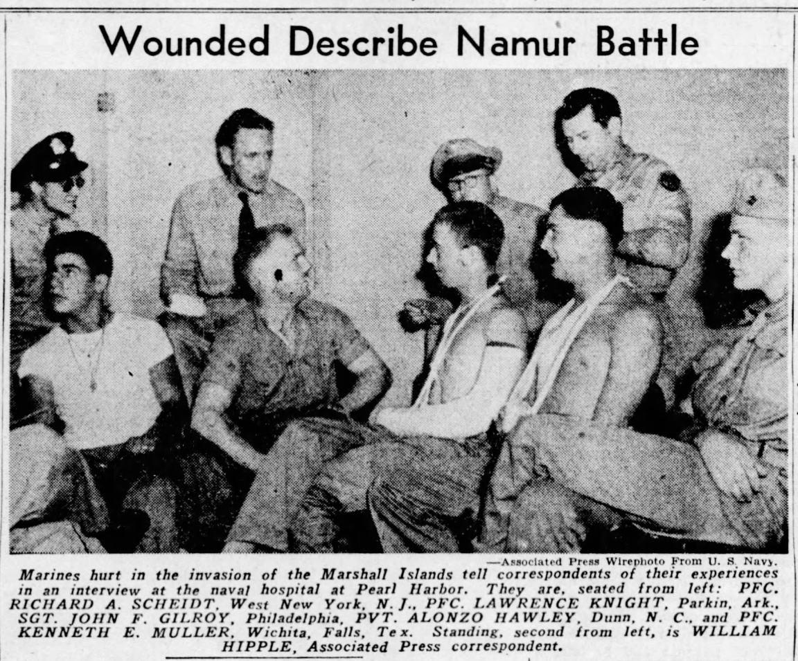 Photo from the St. Louis Dispatch, February 17, 1944.