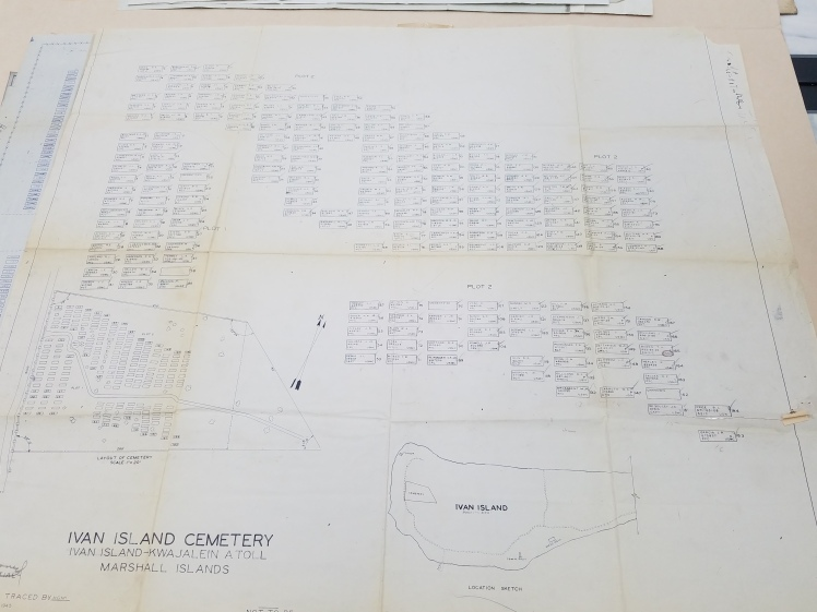 Map of Ivan Island cemetery, showing the location of individual graves. Photograph courtesy of Robert Rumsby.