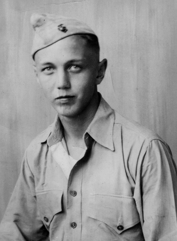Bill Kline in 1942. At the time, he was serving in Samoa with the 7th Defense Battalion.