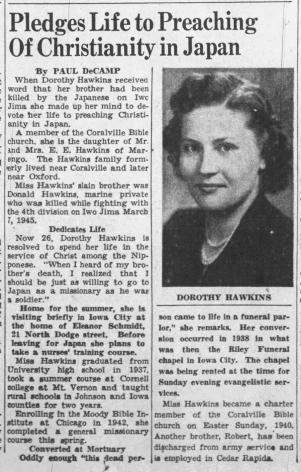 The Iowa City Press-Citizen, 26 June 1946.