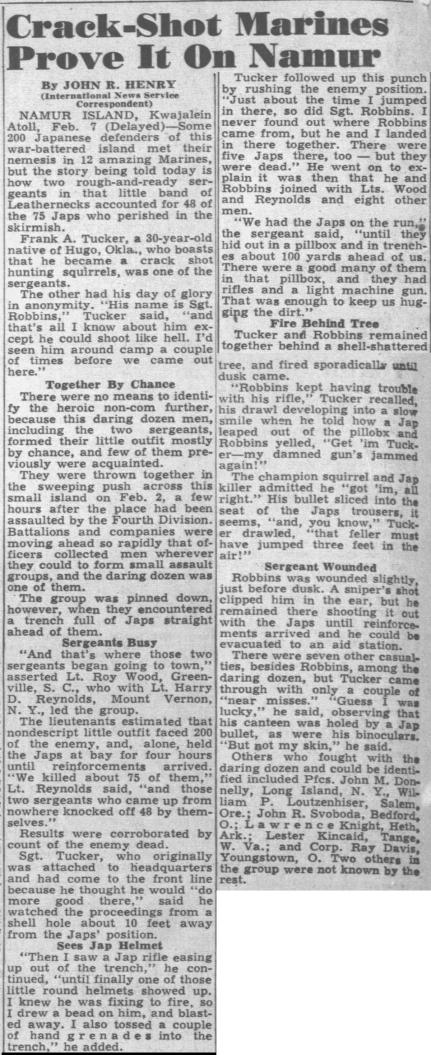 The Honolulu Advertiser, 13 February 1944