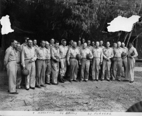 The staff and notable Guadalcanal commanders gather for a photograph in 1942.