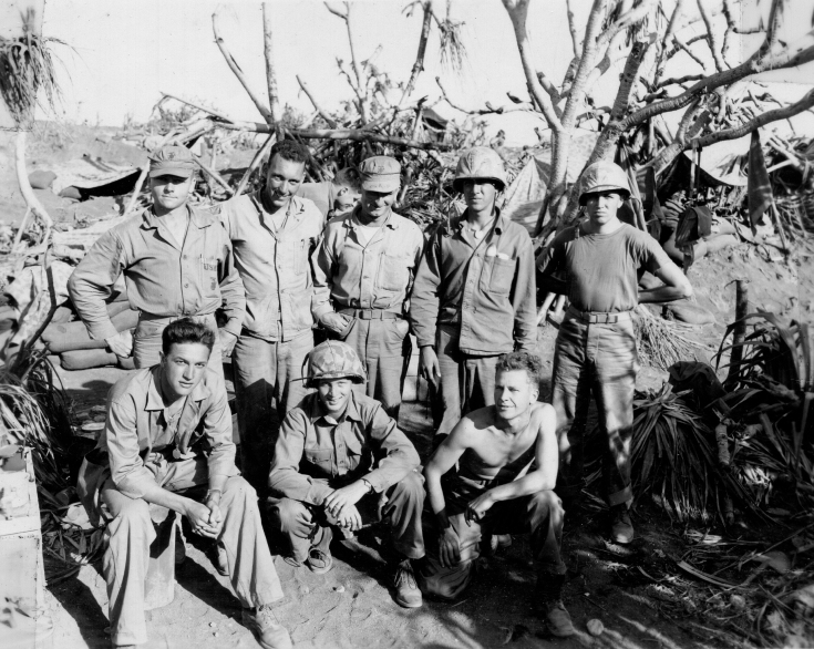 Unknown group of Marines, Iwo Jima.