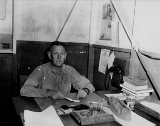 Colonel Jordan in his office, June 1945.