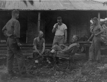 Members of the 24th Marines command staff on Saipan.