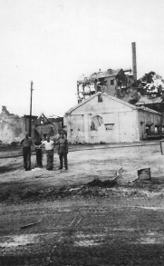 Ruins of the sugar mill in Charan Kanoa, Saipan.
