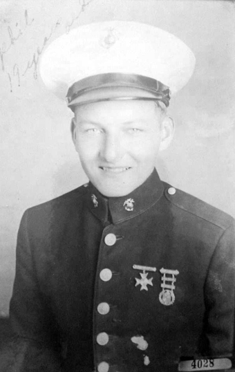 Scally in his dress blues, age 19.